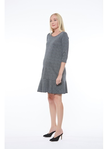 Motherway Maternity Elbise Gri